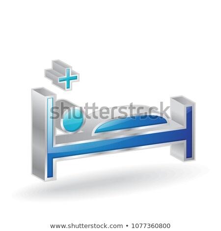 Médicaux lit 3D vecteur icône Photo stock © rizwanali3d