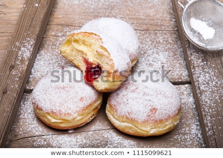 Donut carnaval voedsel achtergrond dessert vakantie Stockfoto © M-studio