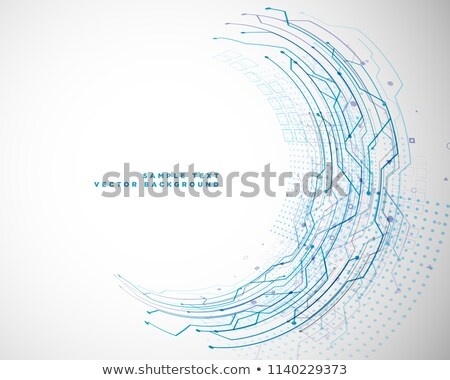 Obwodu schemat stylu komputera Zdjęcia stock © SArts