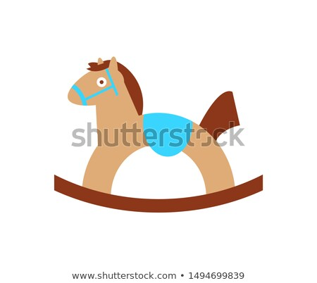 Baby Horse Toy for Child Play Mounted on Rockers Stock photo © robuart
