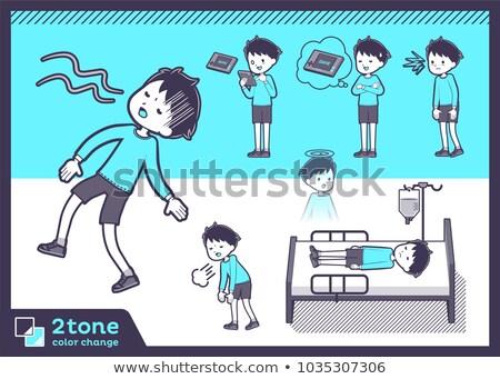 2tone type blue clothing boy_set 10 Stock photo © toyotoyo