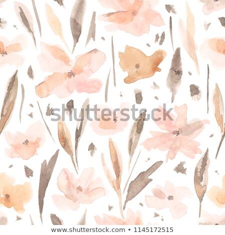Acuarela otono pastel vector formato mano Foto stock © balasoiu