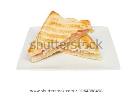 Pirítós sonka sajt forró friss szendvics Stock fotó © Melnyk