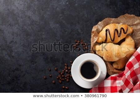 lezzetli · kahvaltı · meyve · kahve · gıda · arka · plan - stok fotoğraf © dash