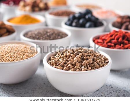 klein · kom · Blauw · exemplaar · ruimte · voedsel · gezondheid - stockfoto © Illia