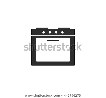 Vector zwart wit oven illustratie geen brand Stockfoto © freesoulproduction
