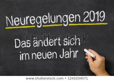 Changes Coming in 2019 written on a blackboard Stock photo © Zerbor