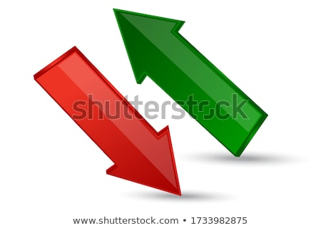 green arrows up down left right vector logo icon Stock photo © blaskorizov