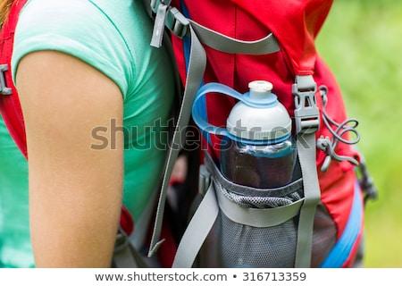feliz · jovem · água · potável · garrafa - foto stock © dolgachov