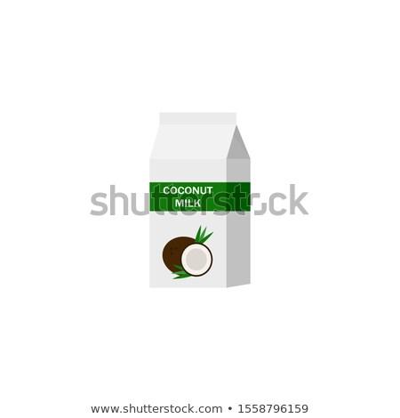 Coco produits isolé blanche vecteur cartoon Photo stock © Lady-Luck