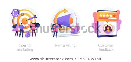 ストックフォト: 内部 · マーケティング · ビッグ · ターゲット · マネージャ