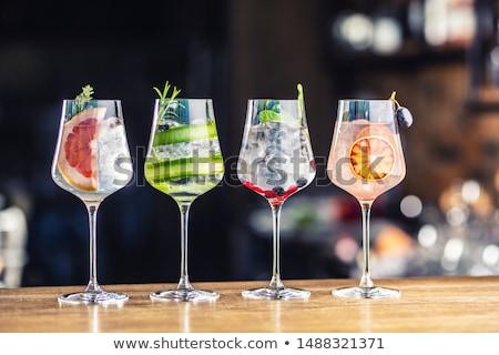 眼鏡 · オレンジ · アルコール · カクテル · 水 · オレンジスライス - ストックフォト © alex9500