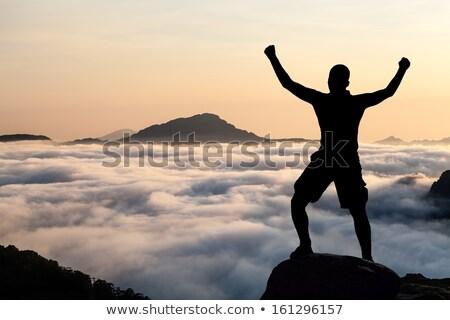 Férfi felső kő Korzika Franciaország fiatal Stock fotó © nito