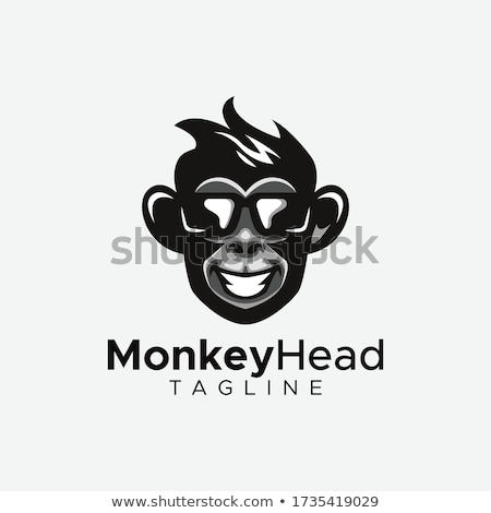 Cartoon sonriendo príncipe chimpancé corona gráfico Foto stock © cthoman