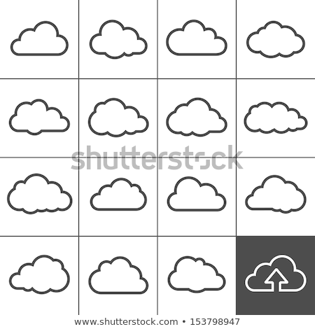 Blauw wolk vector icon symbool Stockfoto © blaskorizov