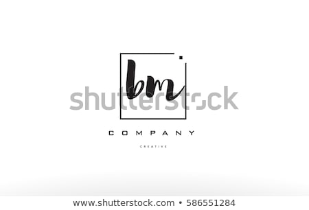 small black logo icon letter b vector sign symbol Stock photo © blaskorizov
