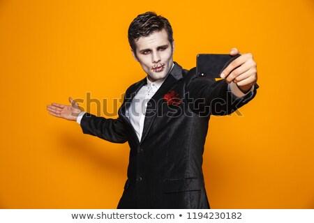 Bastante hombre zombi espacio de la copia aislado Foto stock © deandrobot