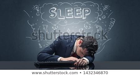 üzletember alszik munkahely ötletek alszik fáradt Stock fotó © ra2studio