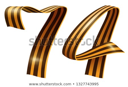 74 anniversary of Victory Day Russia St. George ribbon symbol Stock photo © orensila