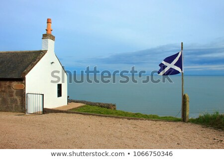 House with flag of scotland Stock photo © MikhailMishchenko