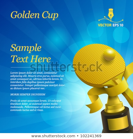 Tennis Award Vector. Tennis Ball, Golden Cup. For Sport Promotion. Tournament, Championship Flyer De Stock photo © pikepicture
