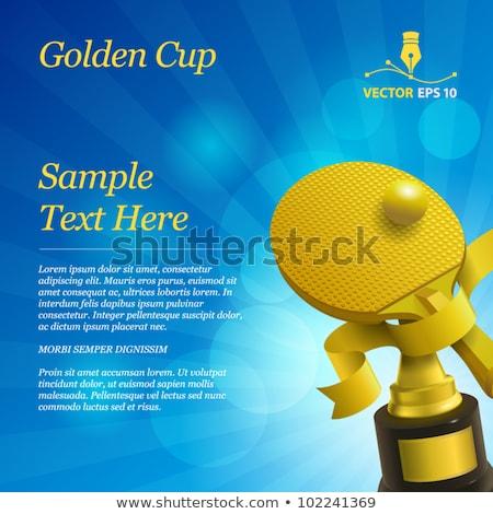 tennis award vector tennis ball golden cup for sport promotion tournament championship flyer de stock photo © pikepicture