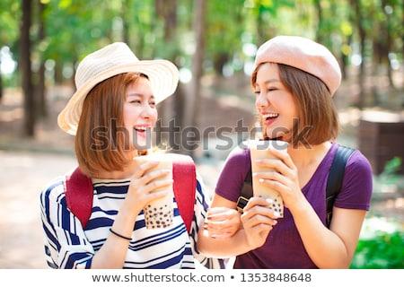 Woman in Park Outdoors Stock photo © artfotodima