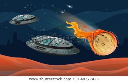 пространстве иллюстрация текстуры природы луна фон Сток-фото © colematt