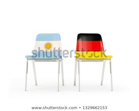 Dos sillas banderas Argentina Alemania aislado Foto stock © MikhailMishchenko