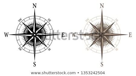 Iránytű izolált mindkettő fekete szín szép Stock fotó © jeff_hobrath