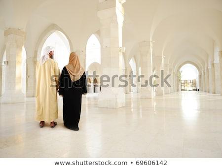 большой мусульманских семьи мечети иллюстрация небе Сток-фото © colematt