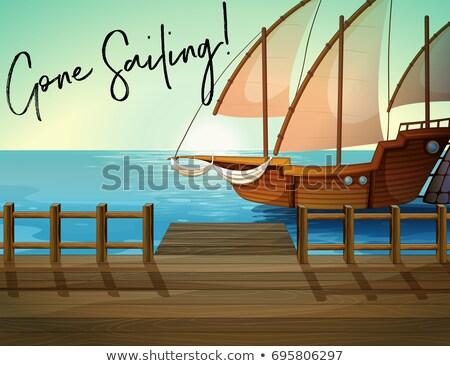 船 桟橋 フレーズ 帆船 セーリング 実例 ストックフォト © colematt