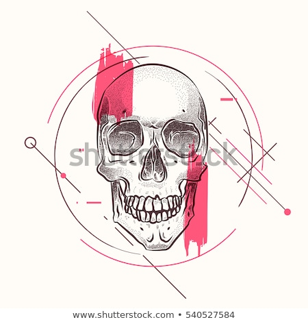 cool dot line drawing of tooth set stock photo © blue_daemon
