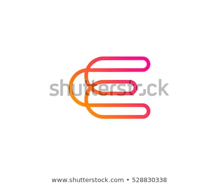 Line font with shadow Letter E 3D Stock photo © djmilic