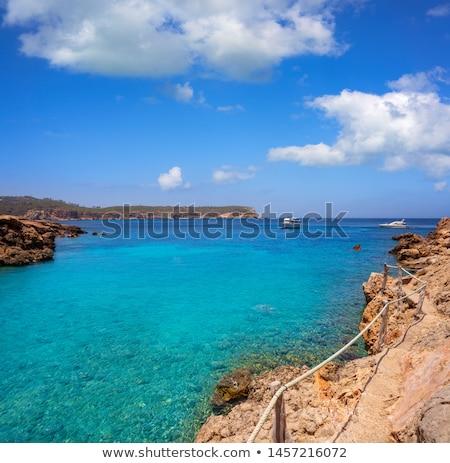 Cala Xuclar of Ibiza in Sant Joan Balearics Stock photo © lunamarina