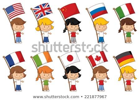 Kid девушки русский флаг иллюстрация Сток-фото © lenm