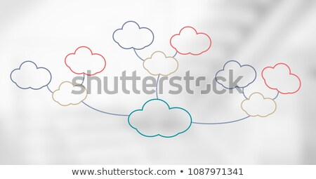 colorful mind map clouds over bright background stock photo © wavebreak_media