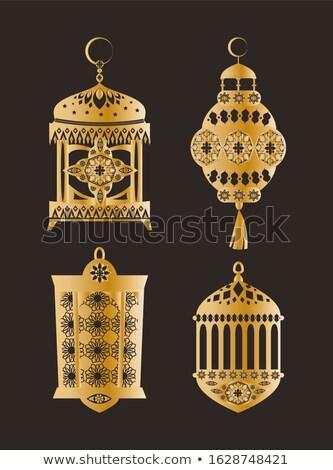 iszlám · fesztivál · szett · vektor · terv · hold - stock fotó © robuart