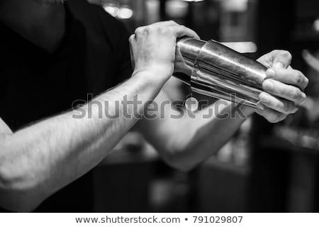 Barman schudden cocktail illustratie wijn bar Stockfoto © adrenalina