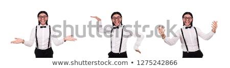 Férfi visel nadrágtartó fehér férfi munka üzletember Stock fotó © Elnur