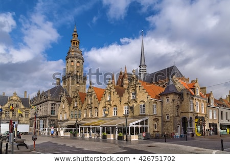 Main market square, Veurne, Belgium Stock photo © borisb17