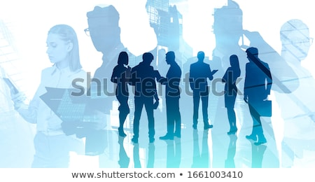 Business partnership meeting, Image of business people joining a Stock photo © Freedomz