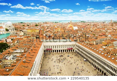 doge palace and piazza san marco at sunrise in venice italy stock photo © asturianu