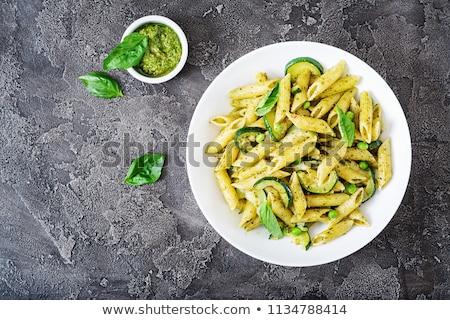 Vegan macarrão verde molho brócolis coco Foto stock © furmanphoto