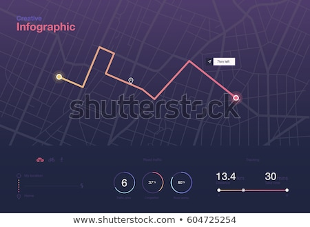 Straßenkarte Navigation Business Haus Straße abstrakten Stock foto © AbsentA