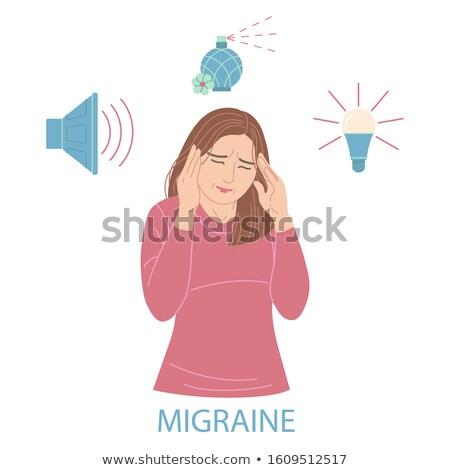 Girl Sensitive Smell Illustration Stock photo © lenm