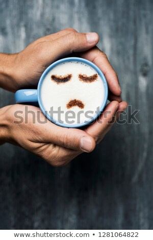 Férfi csésze kávé szomorú arc reggeli Stock fotó © nito