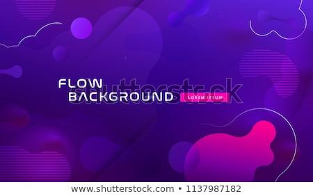 Absztrakt logoterv kék vízszintes vonalak terv Stock fotó © kyryloff