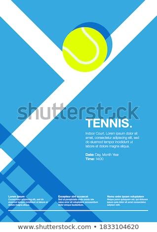 Labda játékok tenisz vektor vonal terv Stock fotó © Decorwithme
