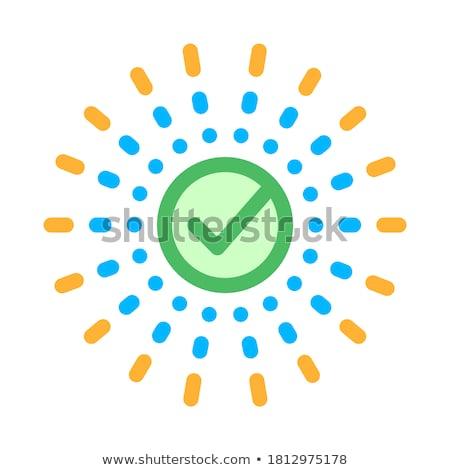 Elismert osztályzat központ sugarak alkotóelem vektor Stock fotó © pikepicture